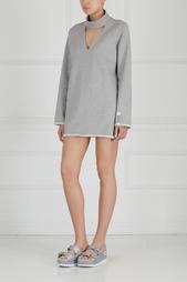 Однотонное платье Choker F-Sweatshirt Dress Zddz
