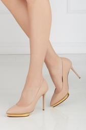 Кожаные туфли Debbie Gold Platform Charlotte Olympia