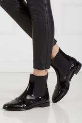 Ботинки из лакированной кожи Chelsea Cats Charlotte Olympia