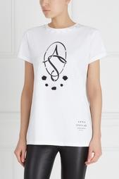 Хлопковая футболка Anna Stevar