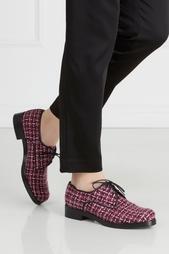 Ботинки из кожи и букле Anna Stevar