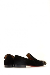 Лоферы из замши и лакированной кожи Spooky Flat Christian Louboutin