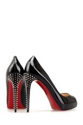 Черные Туфли из лакированной кожи New Very Prive 120 Christian Louboutin