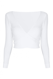 Однотонный кроп-топ Whj Dree Heathered Wrap Top Lisa Marie Fernandez