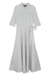 Однотонное платье с люрексом Tegin