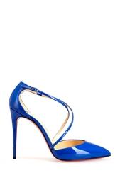 Синие Туфли из лакированной кожи Cross Blake 100 Christian Louboutin
