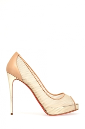 Бежевые Туфли Very Rete 120 Christian Louboutin