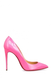 Розовые Туфли из лакированной кожи Pigalle Follies 100 Christian Louboutin