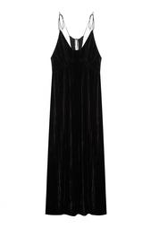 Однотонное бархатное платье Esve