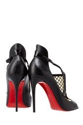 Черные Кожаные туфли Mosaika 100 Christian Louboutin
