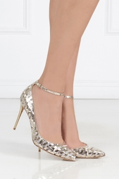 Золотистые Туфли из кожи питона Lucy Jimmy Choo