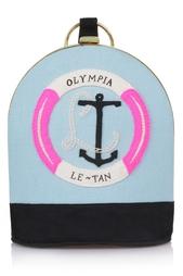 Сумка из хлопка и меди Olympia Le Tan
