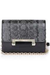 Кожаная сумка Micro Mini Leather Diane von Furstenberg