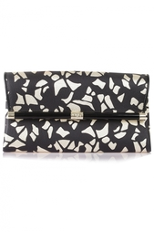Кожаный клатч Envelope Clutch Leather Lace Diane von Furstenberg