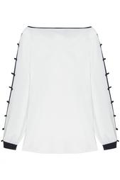 Шелковая блузка Oscar de la Renta