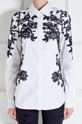 Рубашка из хлопка и нейлона Oscar de la Renta