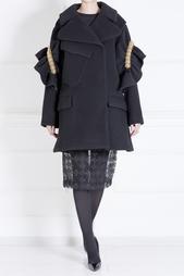 Пальто из шерсти и полиэстера Simone Rocha
