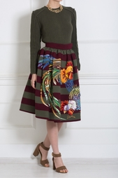 Шерстяная юбка Stella Jean