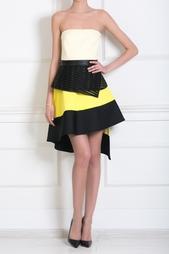 Платье-бюстье с асимметричной юбкой David Koma