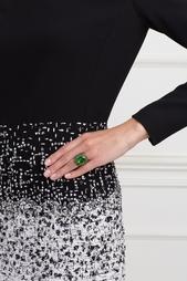 Серебряное кольцо с празеолитом и цаворитами «Ольга» Axenoff Jewellery