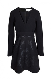 Платье из шерсти и вискозы с длинным рукавом Stella Mc Cartney