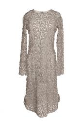 Платье с объемным кружевом Roland Mouret