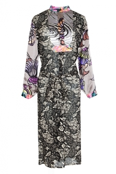 Платье с длинным рукавом и принтом Duro Olowu