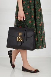 Кожаная сумка GG Marmont leather top handle bag Gucci