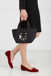 Хлопковая сумка Feline Petit Ami Charlotte Olympia