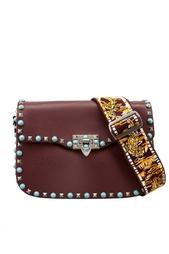 Кожаная сумка с бирюзой Valentino