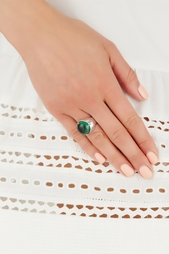 Серебряное кольцо с празиолитом «Леденец» Natalia Bryantseva