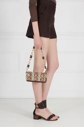 Кожаная сумка с кабошонами Valentino