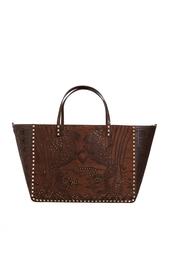 Двухсторонняя кожаная сумка Valentino