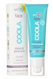 Солнцезащитный увлажняющий крем для лица с минералами без запаха SPF20 50ml Coola Suncare