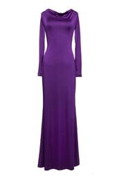 Макси-платье пурпурного цвета Halston Heritage