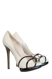 Туфли на каблуке из кожи Nicholas Kirkwood