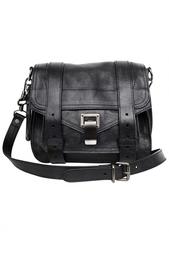 Маленькая черная сумка PS1 на длинном ремешке Proenza Schouler