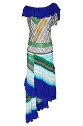 Ассимметричное платье с принтом 18th Amandment