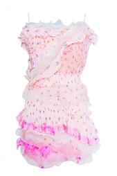 Платье-мини с оборками Nina Ricci