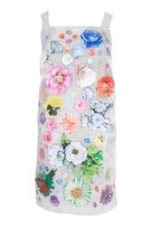 Платье с цветочками Christopher Kane