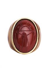 Кольцо с жуком-скарабеем Oscar de la Renta