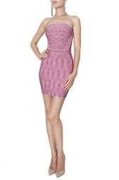 Платье-мини без лямок Hervé Léger