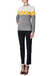 Кашемировый свитер с принтом Derek Lam