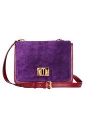 Кожаная сумка на длинном ремешке Emilio Pucci