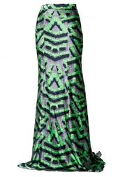 Шелковая юбка с принтом Mary Katrantzou