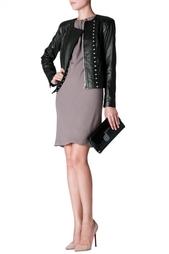 Укороченная кожаная куртка Diane von Furstenberg