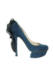 Замшевые туфли с отделкой Nicholas Kirkwood