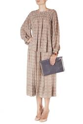 Шелковая блуза с принтом Isabel Marant