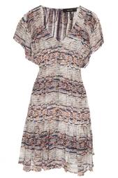 Шелковое платье с принтом Isabel Marant