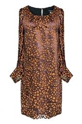 Платье из вискозы с принтом Junya Watanabe